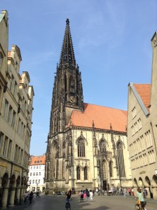 This picture was taken from the flagstone memorial in the Prinzipalmarkt (see the picture below).