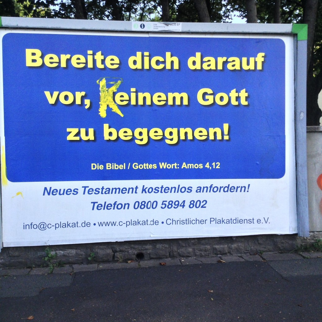 Modified poster in Erfurt